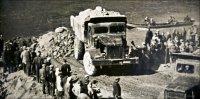 Строительство ГЭС. Фото музея СШГЭС